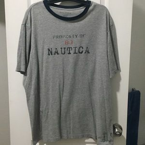 Nautica short sleeve shirt gray 2XLT used
